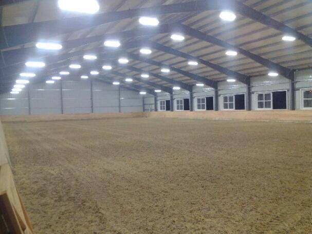 Equestrian Lighting Barn Indoor Arena